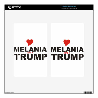 Love Melania Vote for TRUMP Decals For Kindle Fire
