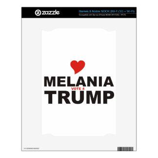 Love Melania Vote for TRUMP Skin For NOOK