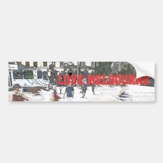 LOVE MELBOURNE BUMPER STICKERS