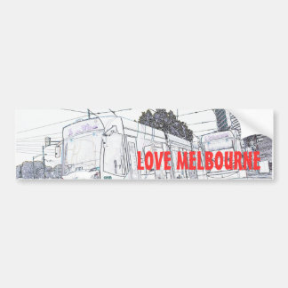 LOVE MELBOURNE TRAM BUMPER STICKERS