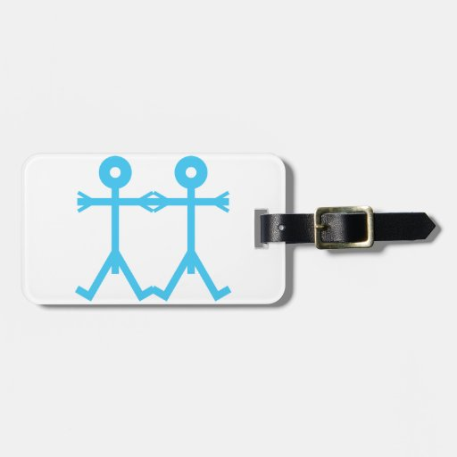 Love Men Icon Blue Travel Bag Tags