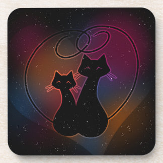 Love Meow Forever Beverage Coaster