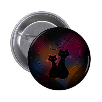 Love Meow Forever Pinback Button