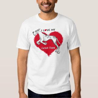 Love Merlequin Great Dane Shirts