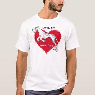 Love Merlequin Great Dane T-Shirt