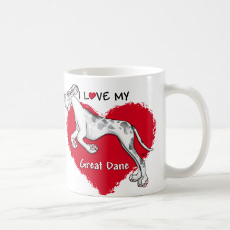 Love Merlequin Great Dane UC Coffee Mug
