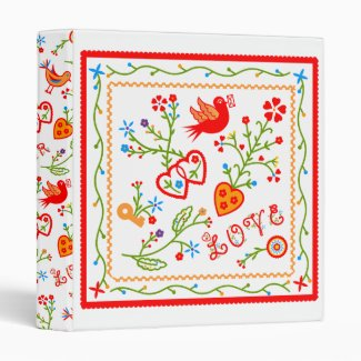 Love message 3 ring binder