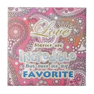 Love Message Ceramic Tile
