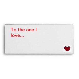 Love message envelope
