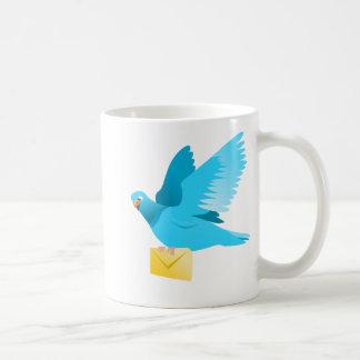 love message for you  pigeon flying coffee mug