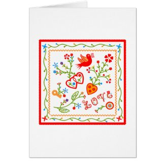 Love message greeting card