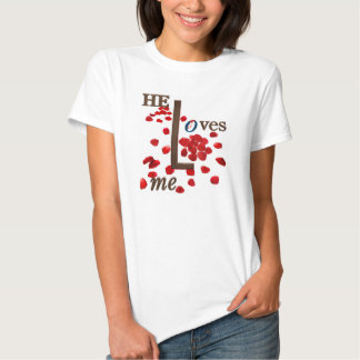 love message on red rose petals. shirt
