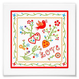 Love message photo print
