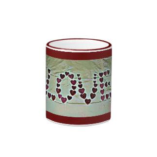 Love Message Ringer Mug
