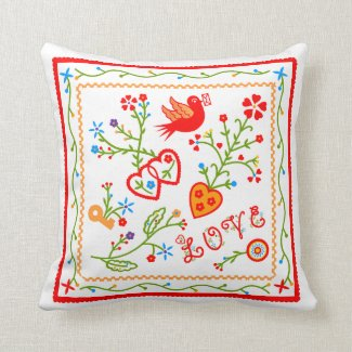 Love message throw pillow