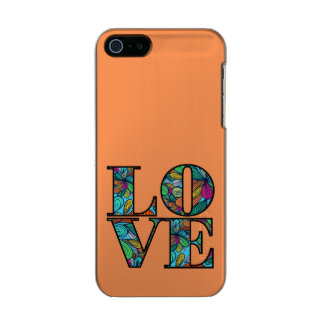 LOVE METALLIC PHONE CASE FOR iPhone SE/5/5s