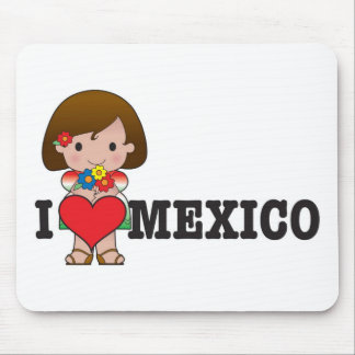 Love Mexico Mouse Pads