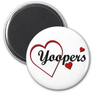 Love Michigan Yoopers Heart Design Magnet