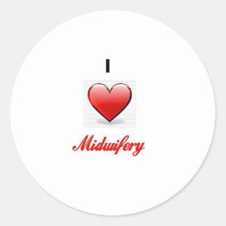love midwifery classic round sticker