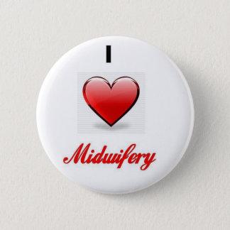 love midwifery pinback button