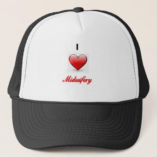 love midwifery trucker hat