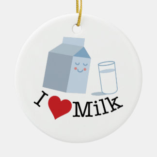 Love Milk Ceramic Ornament