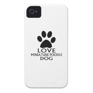LOVE MINIATURE POODLE DOG DESIGNS iPhone 4 Case-Mate CASE