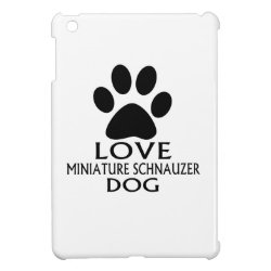 Case Savvy iPad Mini Glossy Finish Case with Miniature Schnauzer Phone Cases design