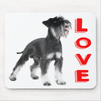 Love Miniature Schnauzer Puppy Dog Red Mouse Pad