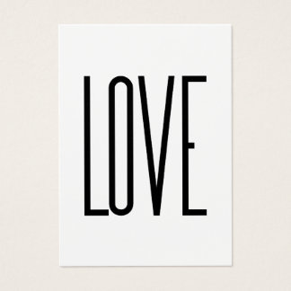 Love - Minimalist Design Business Card