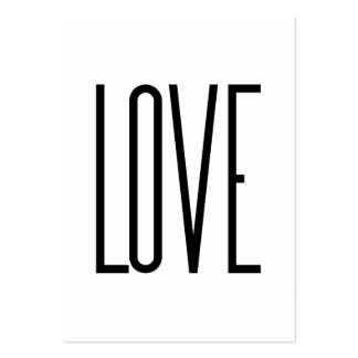 Love - Minimalist Design Large Business Cards (Pack Of 100)