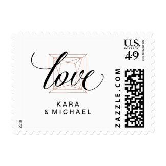 Love | Minimalist Modern Diamond Wedding Postage