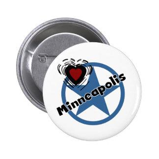 Love Minneapolis Pinback Buttons