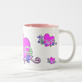 Love Mints For Valentine's Day Two-Tone Coffee Mug