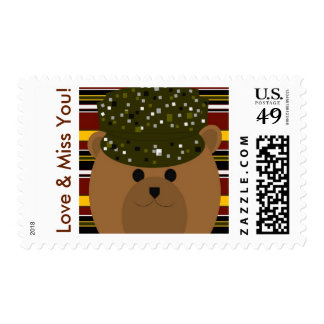 Love & Miss You - Army Camouflage Hero Postage