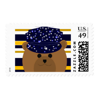 Love & Miss You - Navy Sailor Postage