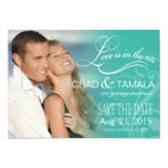 Love Mist Photo Save the Date | aqua 5x7 Paper Invitation Card