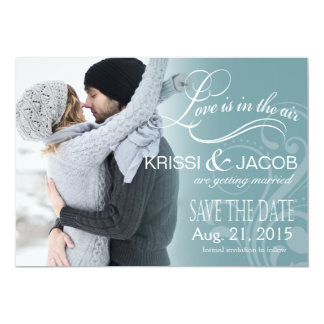 Love Mist Photo Save the Date | icy blue Card