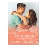 Love Mist Photo Save the Date | peach Card