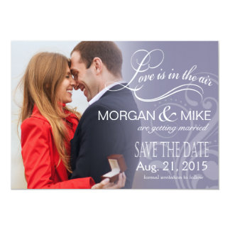 Love Mist Photo Save the Date | periwinkle Card