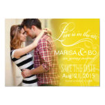 Love Mist Photo Save the Date | yellow Card