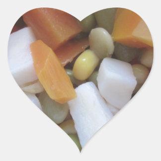 Love Mixed Vegetables Heart Sticker