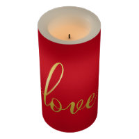 Love Modern Calligraphy Script Candle