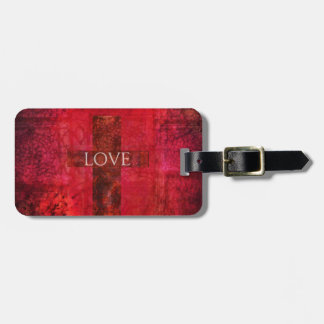 LOVE Modern Contemporary Christian art Luggage Tag
