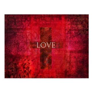 LOVE Modern Contemporary Christian art Postcard