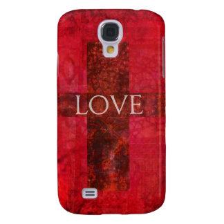 LOVE Modern Contemporary Christian art Samsung Galaxy S4 Cover