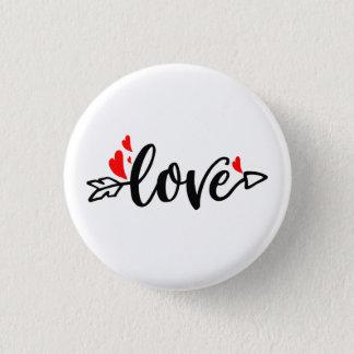 Love-Modern Typography Valentines Design Pinback Button