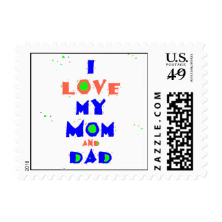 Love MOM and DAD Postage