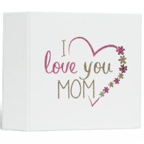Love Mom Mothers Day Heart Binder