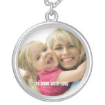 Love Mom Photo Necklace